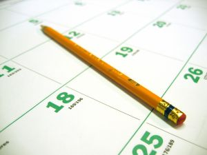 Calendar Pencil Time Tracking