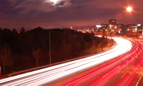 roadway-at-night-lights